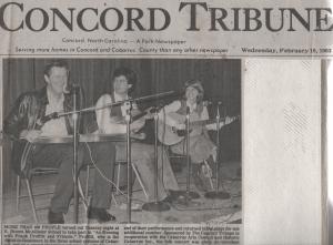 Frank Proffitt, Jr., Wayne Martin, Margaret Martin, Concord, NC, 1983.